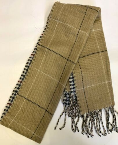 SSP Mens Gents Warm Winter Ski Camping Reverisble Check Scarf One Size SCARF96