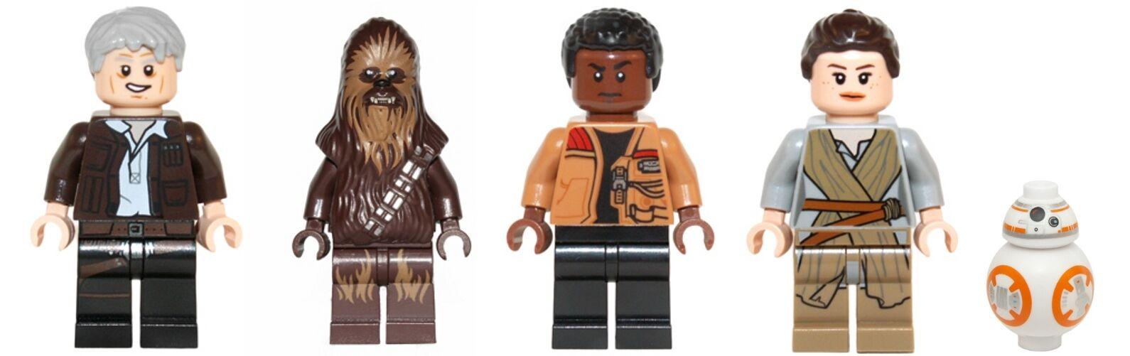 Lego 75105 Star Wars-Han Solo, Chewbacca, Finn, Rey & BB8-Mini Figuras