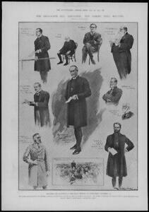1902-Antique-Print-LONDON-Albert-Hall-Education-Bill-Agitation-Churchmen-181