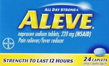 2 Pack - Aleve All Day Pain Relief & Fever Reducer - 24 Caplets Each