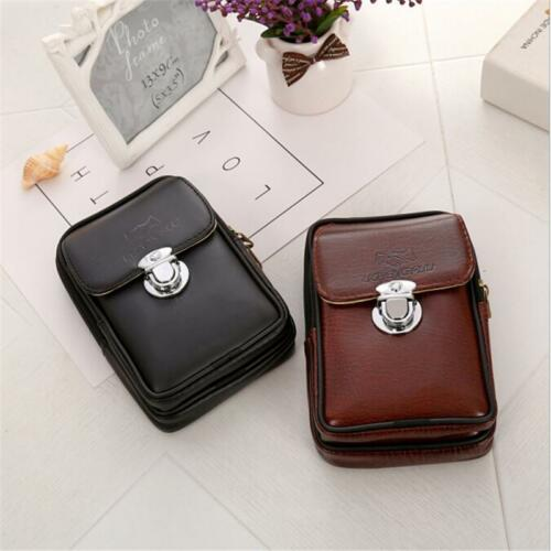 Universal PU Leather Phone Case Cover Retro Waist Bag Hip Bum Belt Fanny Pack Q