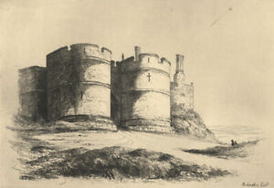 Early-20th-Century-Etching-Rockingham-Castle