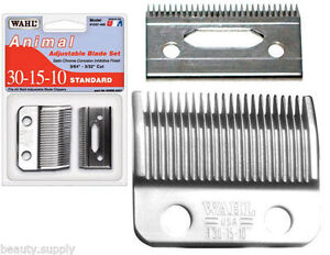 Wahl-30-15-10-Show-Pro-Animal-Clipper-Head-Blades-Set-amp-Oil-WA1037-400