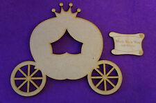 Fairytale Princess Pumpkin Carriage C 15cm/150mm - Craft Embellishment MDF