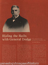 Riding the Rails With Grenville M. Dodge - Casement, Chivington,Deh, Hirshson