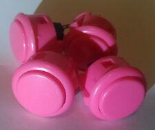 Pink Sanwa arcade button OBSF-30 set of 4