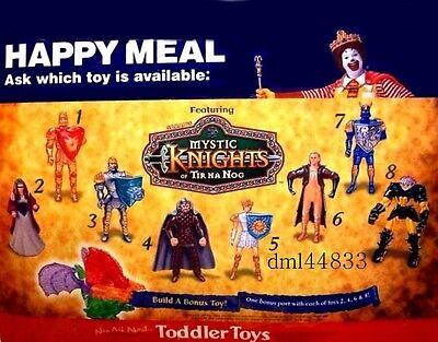 1999 McDonalds Mystic Knights MIP Complete Set - Lot of 8, Boys & Girls, 3+