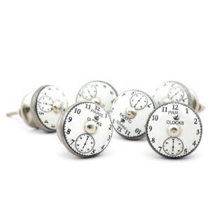 Paris clock Ceramic Knobs Vintage Knobs Cupboard Knobs Cabinet knobs Door Knobs