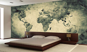Ancient Old World Map Wall Mural Photo Wallpaper Giant Decor Paper