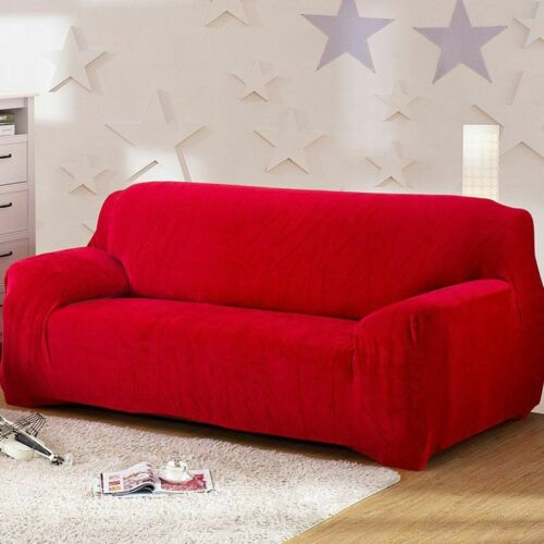 1 2 3 4 Seater Universal Stretch Couch  Sofa Covers Protector Velvet Slipcover