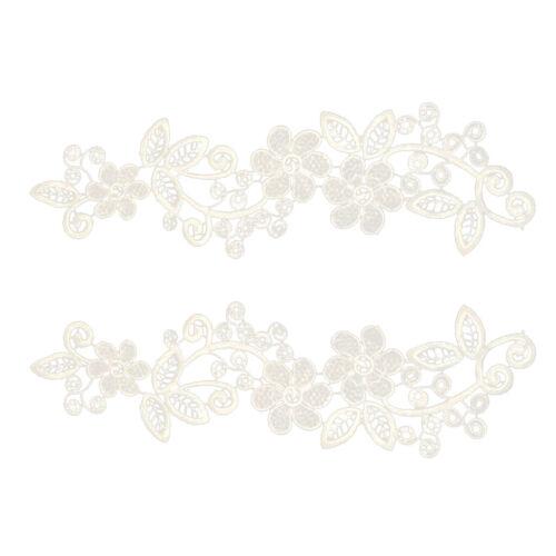 Paar Blumen Venise Nähen auf Applikationen Patches Spitze Motiv Kragen
