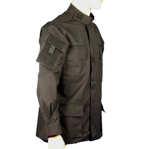 New Black RAID BDU Shirt 6 Pockets Comms Loops Security Uniform Shirt