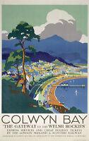 290 Vintage Railway Travel Art  - Colwyn Bay  *FREE POSTERS