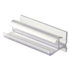 Prime-Line Products M 6144 Shower Door Bottom Guide, Clear