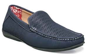 Stacy Adams Shoes Cicero Perfed  Slip On Navy 25172-410