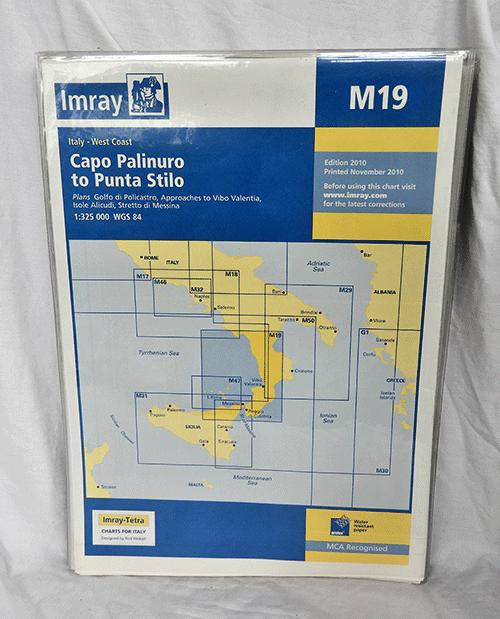 Imray - Marine Chart - Italy West Coast - Capo Palinuro to Punta Stilo - M19