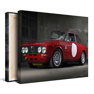 Red-Sports-Car-Framed-Canvas-Picture-Wall-Art-Print