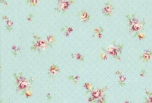 Cottage-Shabby-Chic-Lecien-Rococo-amp-Sweet-Small-Floral-31863L-70-Sky-BTY