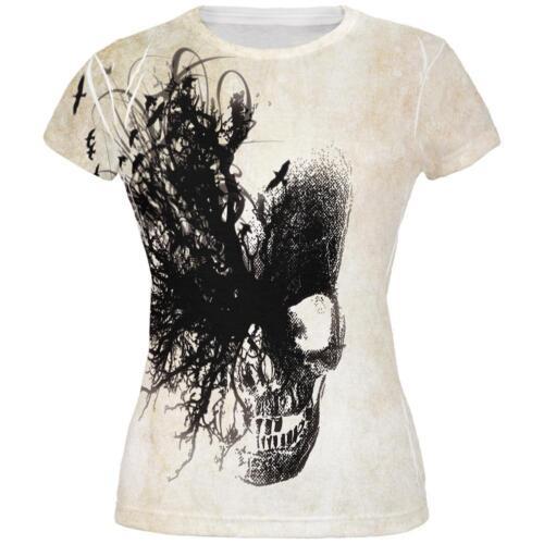 Dreaming Skull All Over Juniors T Shirt