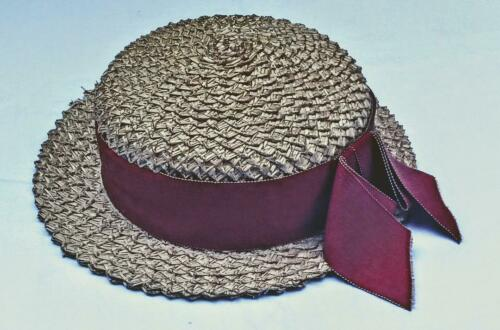 Vintage Ladies Natural Straw Boater