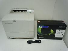 HP Laserjet 4100 4100N Laser Printer +128mb Memory Upgrade +New HP MSE 61X Toner