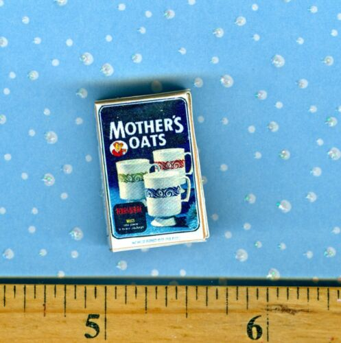 DOLLHOUSE MINIATURE /'50/'s Mothers Oats Hot Cereal Box with Cups on box