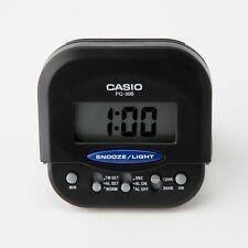 Casio PQ30B-1 BLACK Compact Digital Beep Black Alarm Clock Travel Alarm NEW