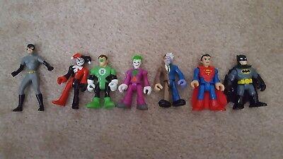 Fisher-Price Imaginext DC Super Friends Superman,Batman,Joker,Harley Quinn,Robin