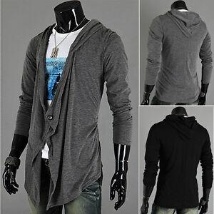 Men-Long-Sleeve-Knitted-Irregular-Hoody-Cardigan-Coat-Jacket-Sweater-Outwear-New