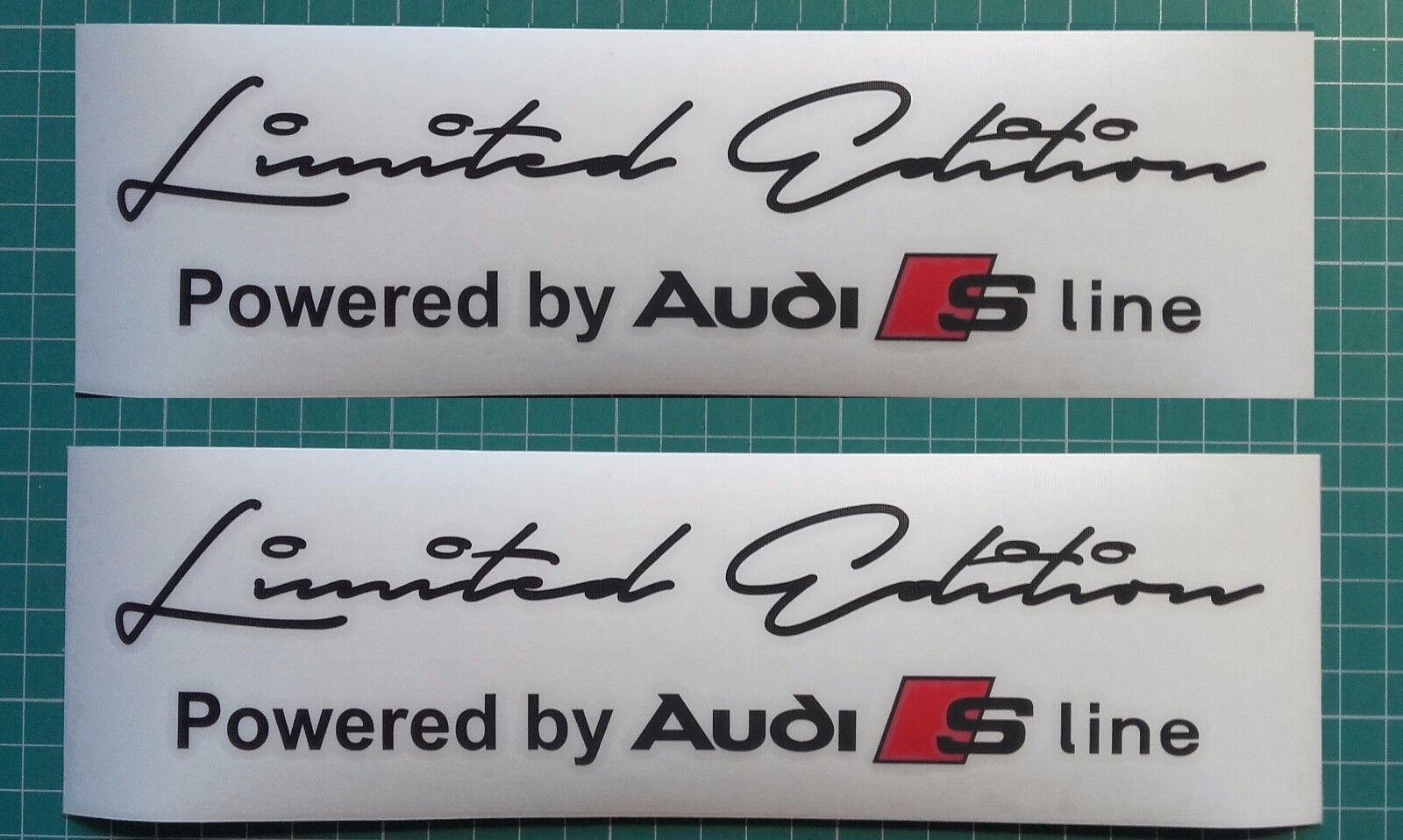 Audi Limited edition sticker decal