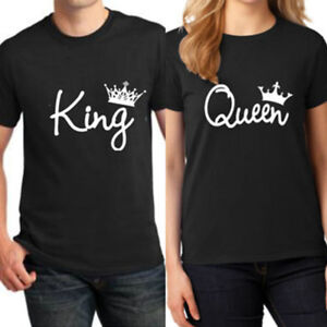 Women-Men-Couple-Lovers-T-Shirt-King-And-Queen-Love-Matching-Shirts-Unisex-Tops