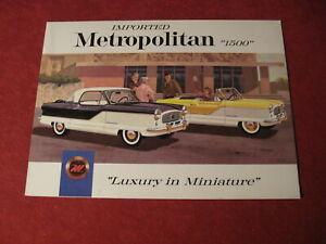 1959 Nash Metropolitan sales Brochure booklet Catalog Book Old Original