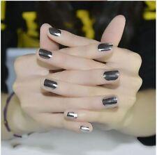 16pcs Texture Nail Art Foil Decal Patch Wrap DIY MINX Decoration Beauty Silver
