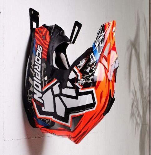 Helmet HolderHanger Rack Storage Lock Mount on WallMoto Accessories