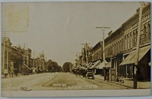 Antique RPPC-N. Manchester, IN-1908-National Register Of Historic Places