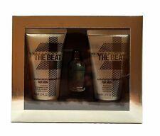 THE BEAT FOR MEN BY BURBERRY GIFT SET WITH EAU DE TOILETTE SPLASH 4.5 ML NIB