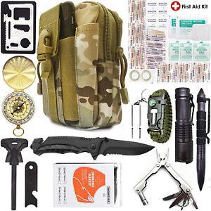Kit-de-Supervivencia-Camping-40-en-1-Engranaje-exterior-Militar-Tactical-Mochila-De-Emergencia