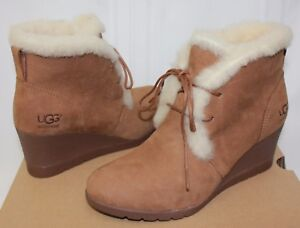 15071c79b1c1 UGG Women s Jeovana Boots Chestnut Suede Waterproof New With Box!