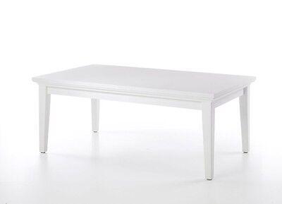 Couchtisch Paris, weiß, Wohnzimmertisch, Länge 135 cm, Stubentisch, Landhaus
