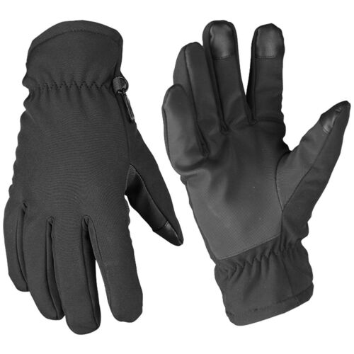 Mil-Tec Softshell Thinsulate Gloves Men/'s Warm Police Security Protection Black