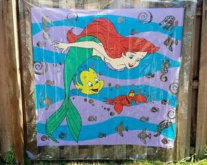 Image Is Loading VINTAGE Shower Curtain Bathroom Waterproof Disney Little Mermaid