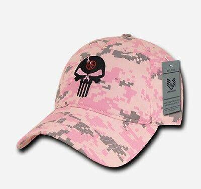 Laborioso Us Rapdom Punisher Skull Relaxed Graphic Cap Berretto Pink Rosa Digital Mimetico-mostra Il Titolo Originale Senza Ritorno