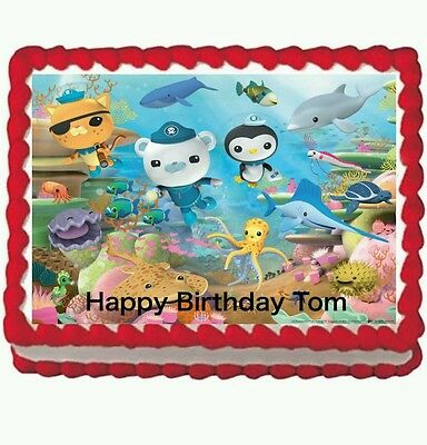Miraculous Octonauts Birthday Party Edible Cake Topper 1 4 Frosting Icing Funny Birthday Cards Online Necthendildamsfinfo