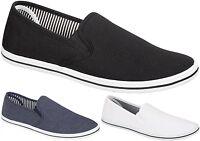 New Mens Canvas Shoes Plimsolls Espadrilles Boys Pumps Trainers Slip On Lace Up