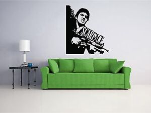 Image is loading Scarface-Wall-Art-Decal-Sticker-Home-Decor  sc 1 st  eBay & Scarface Wall Art Decal Sticker Home Decor | eBay
