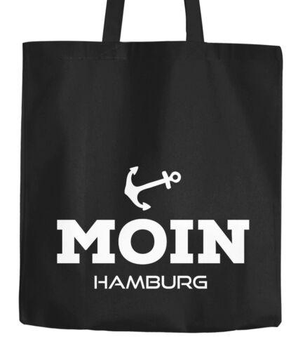 Jutebeutel Stofftasche Moin Hamburg Anker Anchor Baumwolltasche Moonworks®