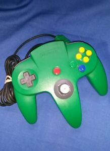 OEM-Authentic-Green-Nintendo-64-N64-Controller-VERY-TIGHT-STICK-EXCELLENT