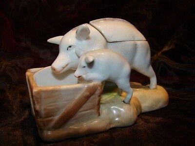 Verarbeitung In Senftopf Schwein Tierwelt Art Deco Stil Art Nouveau Jugendstil Stil Porzellan En Exquisite