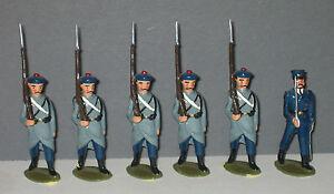 Dorset Plomb Taille Cbg Mignot 6 Fusiliers Marins En Capote Lot 097