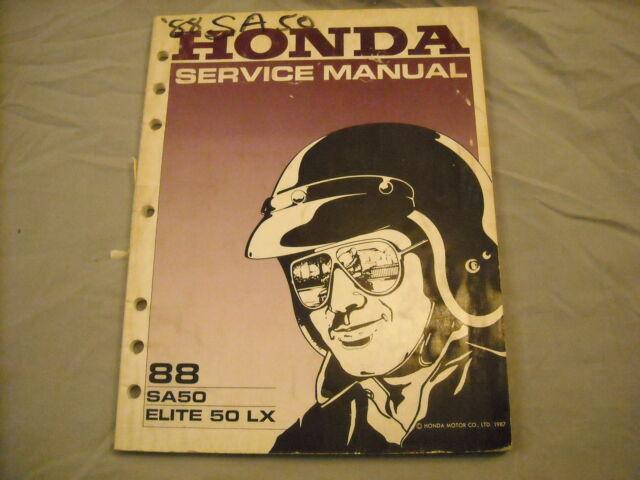 1988 Honda Service Manual Sa50 Elite 50 Lx
